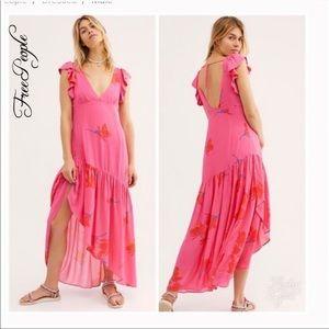 NWT Free People She's A Waterfall Maxi Dress